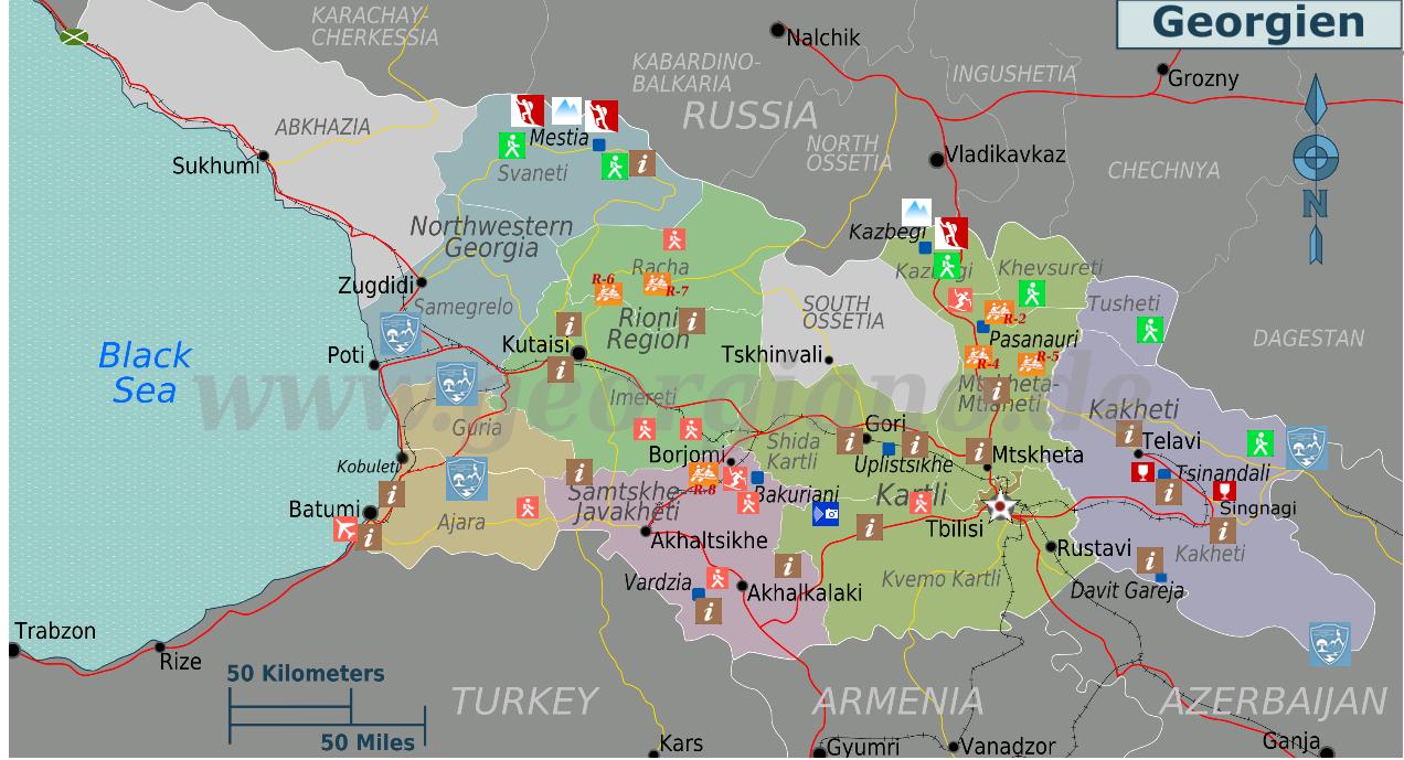 Georgien Karte.Interaktive Karte Von Georgien Map
